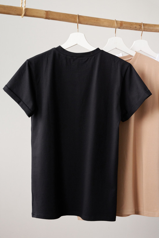 T-shirt Look on the bright side black 3