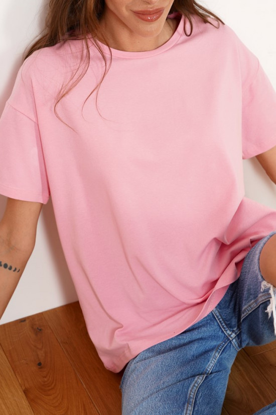 Oversize t-shirt from organic cotton Drew baby pink
