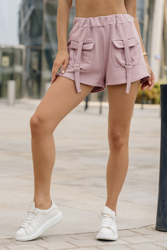 Sweatshirt shorts with pockets Nelly dusty rose