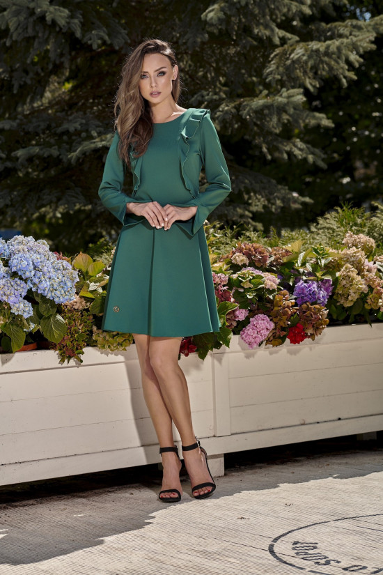 Classic claret dress with long sleeves green